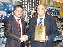 Магазины «АИС-Автозапчасти» получили награду от Shell