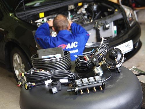 Установка газового обарудования на автомобиль