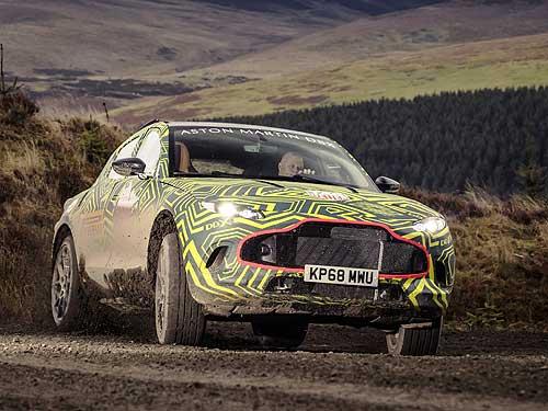 Начались испытания прототипа первого внедорожника Aston Martin DBX