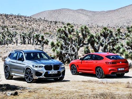 В линейке BMW появились спортивные версии BMW X3 M и BMW X4 M Competition