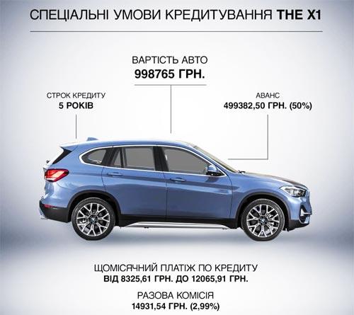 BMW X1 доступен по специальным ценам и в кредит от 8300 грн. в месяц - BMW