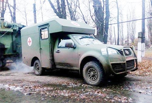 Санитарный Богдан-2251 успешно прошел испытания в зоне АТО - Богдан