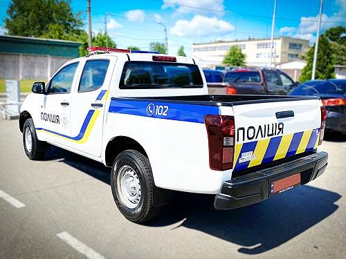 Нацполиция получила новую партию пикапов ISUZU D-Max - ISUZU