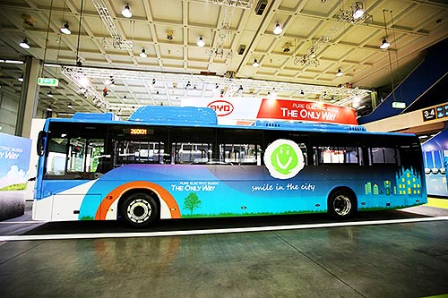 BYD представил доработанную евроверсию 12-метрового электроавтобуса eBus - BYD