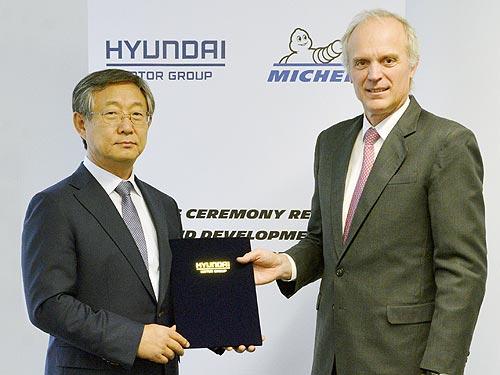 Hyundai и Michelin разработают шины для электрокаров и премиальных авто - Hyundai