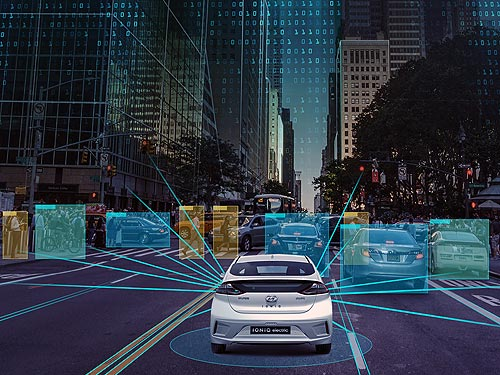 Автономные автомобили Hyundai оснастят интеллектуальными радарами Metawave