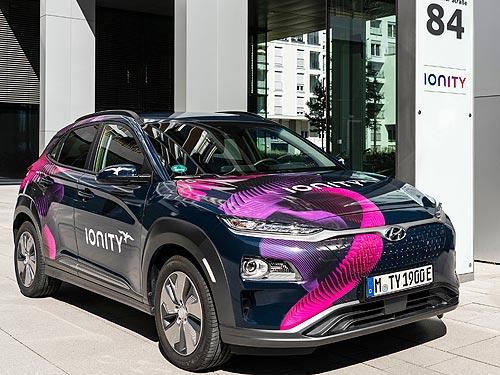 Hyundai инвестирует в сеть зарядных станций IONITY