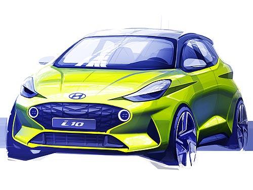 Каким будет новое поколение Hyundai i10. Первый скетч