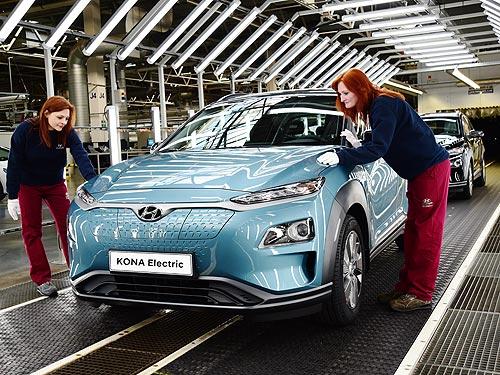 В Европе стартует производство электрокроссовера Hyundai Kona Electric