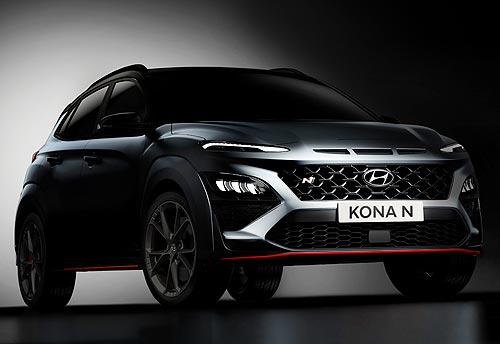 Hyundai представил новую версию кроссовера KONA N с 8-ступенчатой КПП