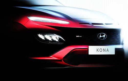 Каким будет обновленный кроссовер Hyundai Kona. Первые тизеры