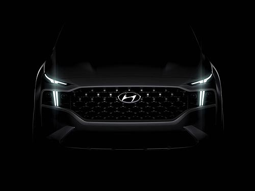 Каким будет обновленный Hyundai Santa Fe. Первый тизер