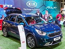 Kia продемонстрировал в Киеве электромобиль и гибрид - Kia