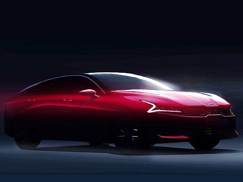 Какой будет новая Kia Optima. Первые официальные скетчи