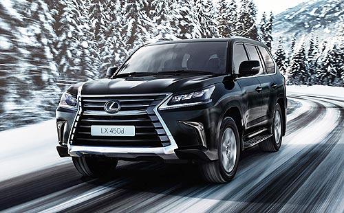 Покупатели Lexus LX 450d получают комплект зимних шин