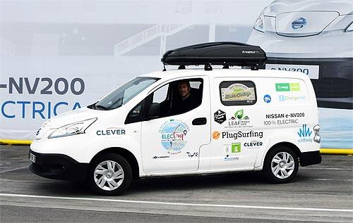 Электромобиль Nissan e-NV200 отправляется в 35-дневный тур по Европе - Nissan