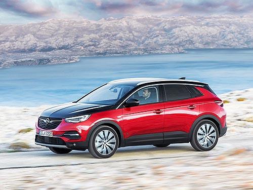 В линейке Opel появится гибридный кроссовер Grandland X, способный проехать 50 км на электротяге - Opel