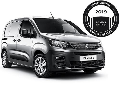 Новый PEUGEOT PARTNER стал Вэном года «Van Of The Year 2019»