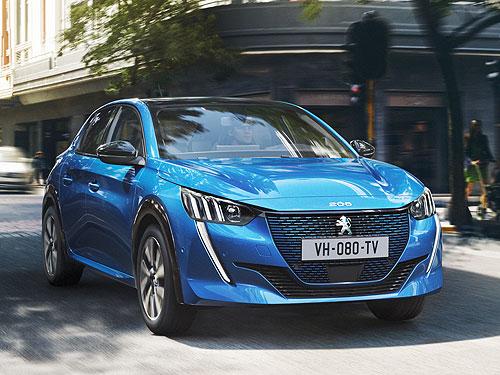 PEUGEOT e-208 назвали лучшим компактным электромобилем года