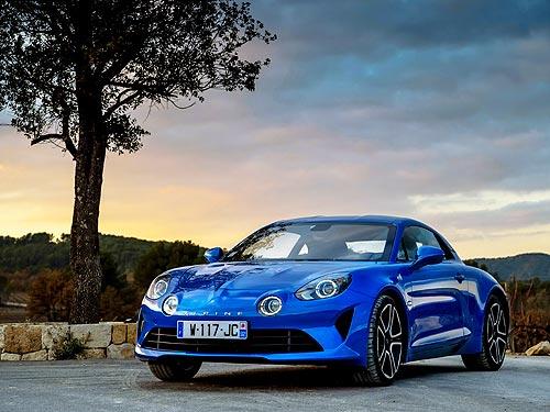 Спорткар Alpine A110 получил пять звезд на Autocar Awards 2018 - Alpine