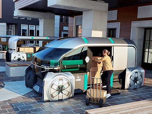 Renault представила робоавтомобиль с экспедитором для доставки грузов