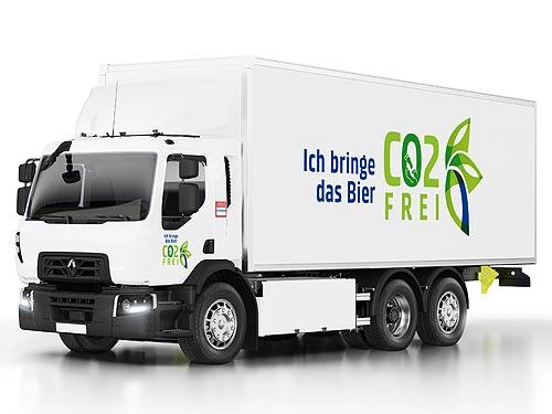 Пиво Carlsberg будут возить электрогрузовики Renault Trucks серии D Wide Z.E.