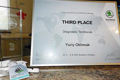 Украинцы вошли в ТОП- 3 лучших специалистов SKODA в мире