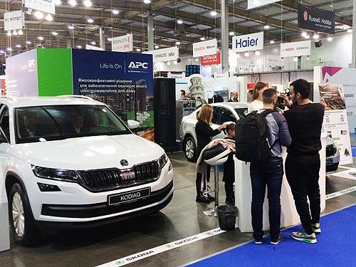 Автомобили SKODA впечатляли инновациями на выставке электроники в Украине СЕЕ 2017