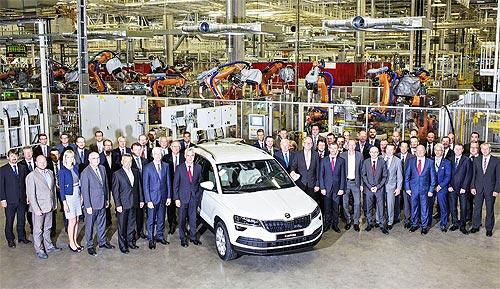 Стартовало серийное производство нового SUV SKODA KAROQ - SKODA