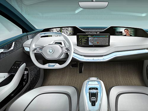 Эксклюзив! Корреспондент AUTO-Consulting поездил за рулем Skoda Vision E - Skoda
