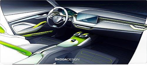 Skoda представит в Женеве новый городской кроссовер VISION X - Skoda