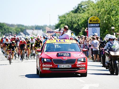 SKODA в 16-й раз поддерживает велогонку Тур де Франс