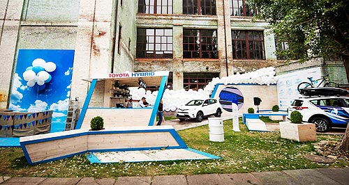 Toyota RAV4 Hybrid приняла участие на Фестивале уличной еды - Toyota