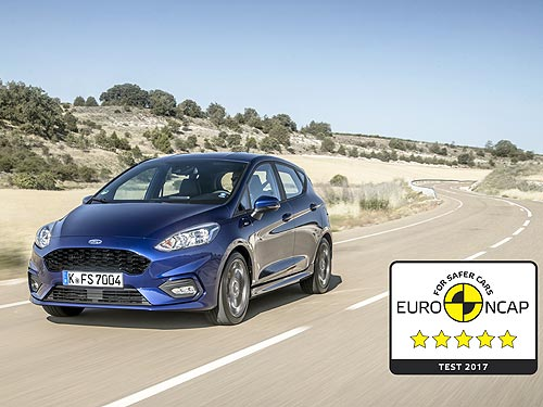 Новая Ford Fiesta получила максимум по безопасности Euro NCAP - Ford