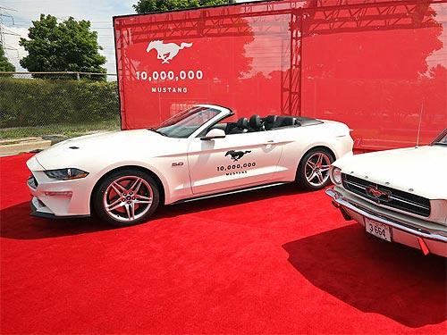 Как Ford отпраздновал выпуск 10-миллионого Mustang. История модели