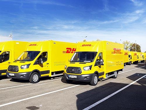 Ford начал выпуск электрофургонов на базе Ford Transit для DHL