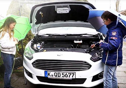 В Ford придумали, как использовать дождевую воду в стеклоомывателе - Ford
