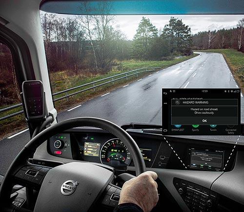 Автомобили и грузовики Volvo будут предупреждать дорожные происшествия - Volvo