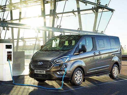 Ford представил гибридный подзаряжаемый микроавтобус Tourneo Custom Plug-In Hybrid