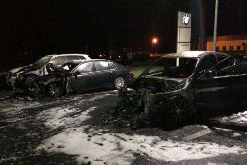 В Харькове горели премиальные автомобили - преми