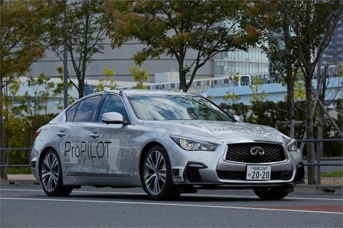 Nissan уже тестирует в Токио прототип полностью автономного автомобиля