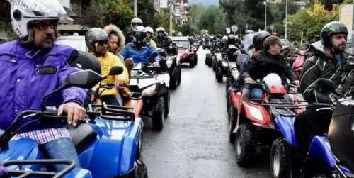 В Греции хотят запретить квадроциклы. В Афинах проходят акции протеста владельцев такого транспорта - квадроцикл