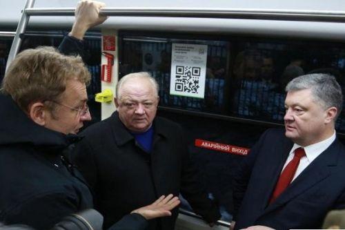 Порошенко покатался на единственном в Украине электробусе - электробус