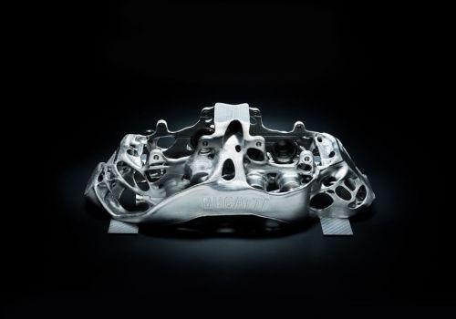 Тормозные суппорта Bugatti напечатали на 3D принтере
