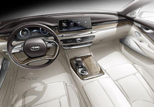 Kia делает еще один шаг в премиум и показала интерьер своего топового седана К900