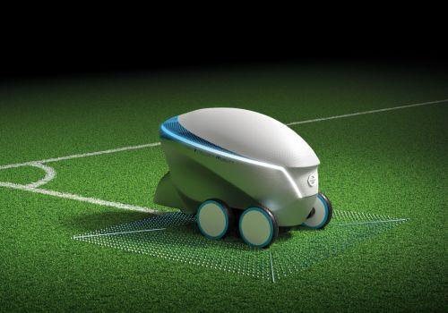 Nissan представил в Киеве робота для разметки футбольных полей - Nissan