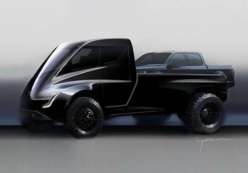 Пикап от Tesla будет самостоятельно парковаться и опускать двери