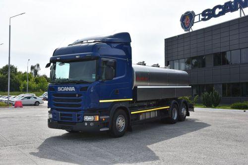 Scania поставила в Украину необычный молоковоз