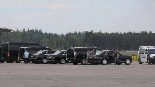 Лимузин Aurus засветился на встрече Путина и Трампа