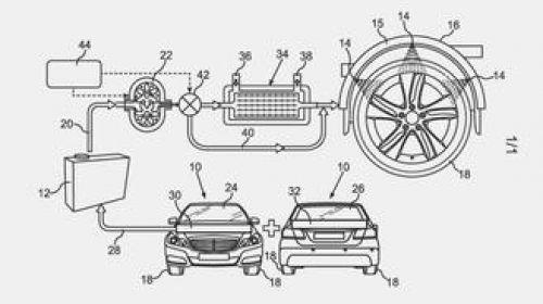 Mercedes-Benz запатентовал водяное охлаждение шин